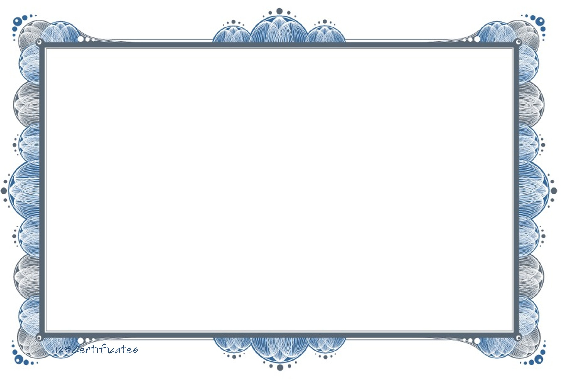 photo certificate border template free images
